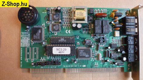 Cirrus 16 bites ISA Voice Faxmodem kártya V.34 33.6 kbit/s - tesztelve PnP Cirrus chip NCI1002G
