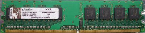 Kingston KVR667D2N5/512 512MB DDR2-667 RAM modul DDR2-SDRAM 1.8V