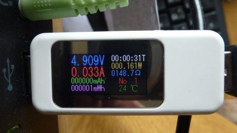 KEWEISI KWS-MX18 USB feszültség, áram és akku töltés mérő műszer színes kijelzővel - USB Charger Doctor Voltage Current Meter Capacity Tester Power Detector