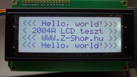 LCD kijelző 20x4 karakter 2004A Character LCD Display Module 2004 LCD HD44780 kék