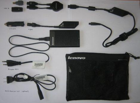 Lenovo 20V 4.5A (90W) Ultraslim AC/DC Combo Adapter ThinkPad gyári laptop töltő - autós töltő
