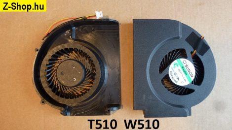 Lenovo ThinkPad T510 W510 CPU Cooling Fan processzor hűtő