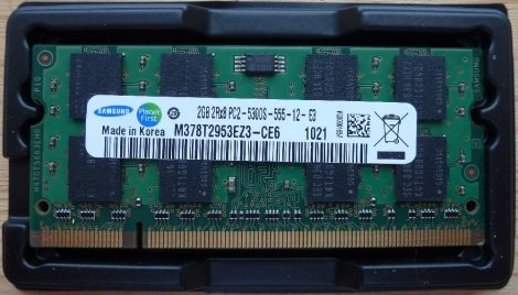 Samsung 2GB DDR2 sodimm 667MHz (PC2-5300S) laptop memória modul M378T2953EZ3-CE6