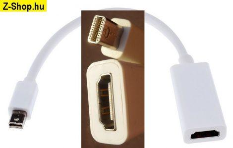 Mini DisplayPort - HDMI átalakító adapter kábel 23 cm fehér Mini DP to HDMI