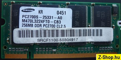 Samsung 256MB DDR 333MHz sodimm RAM modul PC2700S CL2.5 M470L3224FT0-CB3