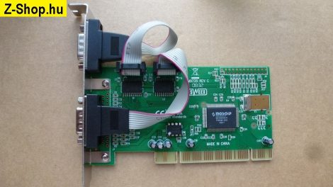 NM9735 Rev C - 2 soros port PCI i/o kártya MOSCHIP MCS9835CV chip - SWEEX