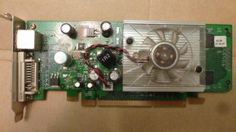 NVIDIA GeForce 8400 GS (p413) 256MB DDR2 PCI-e VGA kártya DVI és S-Video csatlakozóval - Low Profile - alacsony
