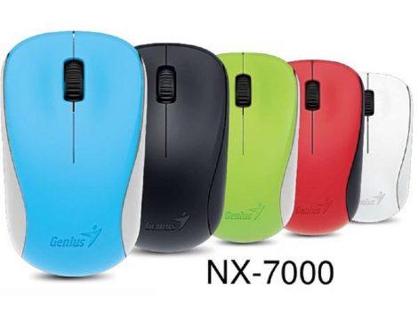 Genius wireless egér NX-7000 - fekete, fehér, piros, kék, zöld - vezeték nélküli egér