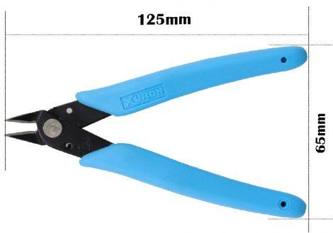 műszerész oldalcsípő fogó 125mm max. 1mm réz dróthoz