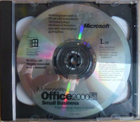 Microsoft Office 2000 Small Business OEM HU telepítő készlet (csak CD-k)