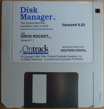 Ontrack Disk Manager 6.03 lemez