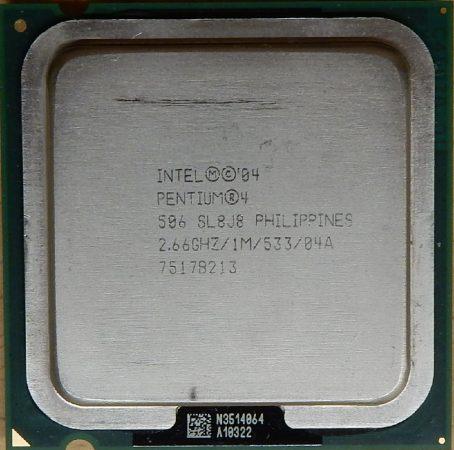Intel Pentium 4 506 2.66GHz/1M/533 processzor SL8J8 s775 cpu