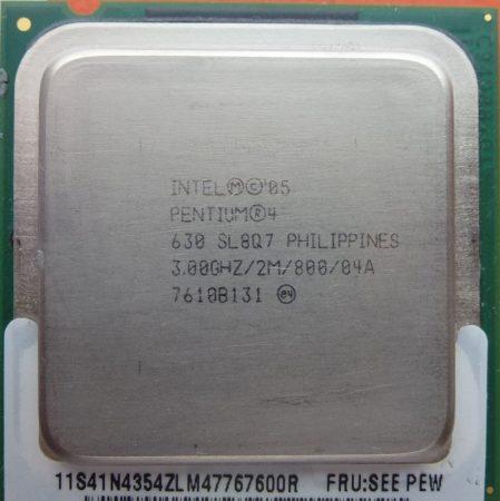 Intel Pentium 4 630 3.00GHz/2M/800/04A processzor SL8Q7 s775 cpu
