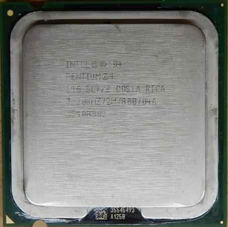 Intel Pentium 4 640 3.20GHz/2M/800 processzor SL7Z8 s775 cpu - HIBÁS