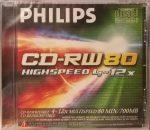 PHILIPS 4x-12x 700MB CD-RW újraírható CD lemez törölhető