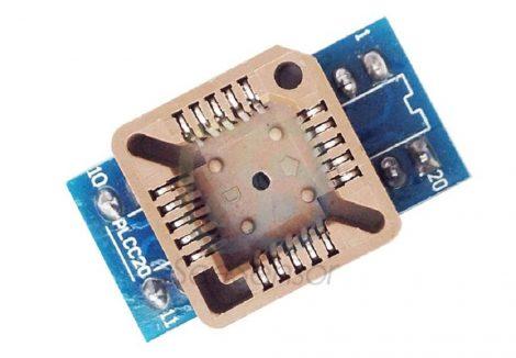 PLCC20 - DIP20 adapter átalakító foglalat - 3 raszter