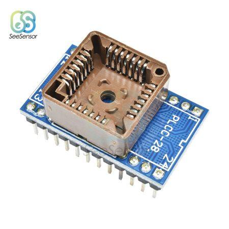 PLCC28 - DIP24 adapter átalakító foglalat - 6 raszter