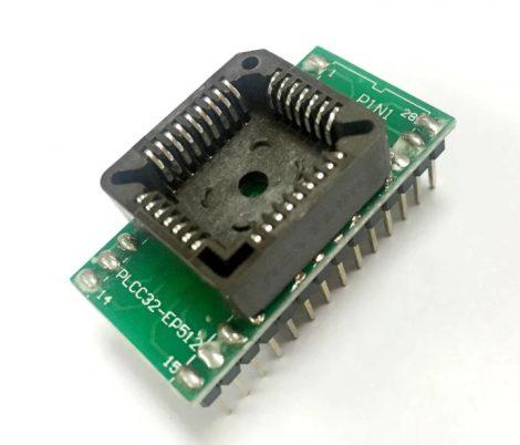 PLCC32 - DIP28 adapter átalakító foglalat - 6,5 raszter