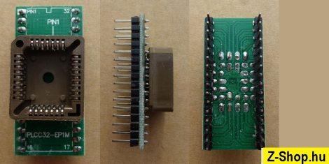 PLCC32 - DIP32 adapter átalakító foglalat - 6,5 raszter