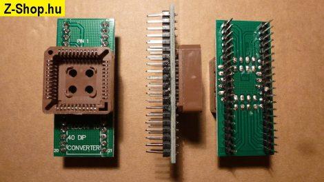 PLCC44 - DIP40 adapter átalakító foglalat