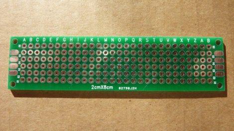 prototípus nyák - furatgalvanizált  - 2x8 cm