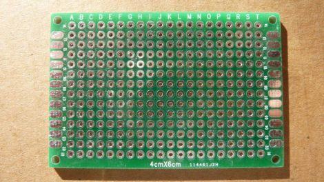 prototípus nyák - furatgalvanizált  - 4x6 cm