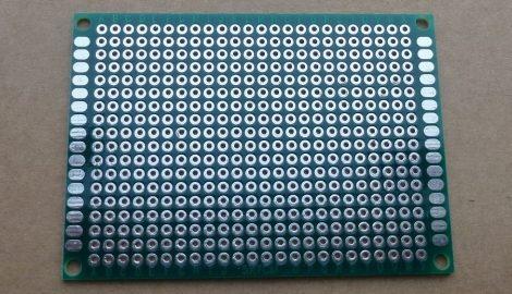 prototípus nyák - furatgalvanizált  - 5x7 cm