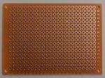 prototípus nyák - egyoldalas - 5x7 cm - bakelit