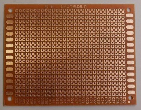 prototípus nyák - egyoldalas - 7x9 cm - bakelit
