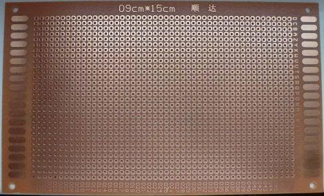 prototípus nyák - egyoldalas - 9x15 cm - bakelit