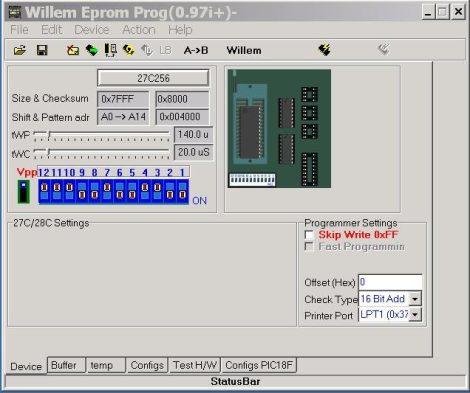 EPROM, EEPROM, FLASH ROM, stb... programozása (100ft/db)