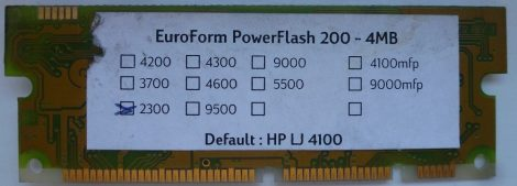 EuroForm PowerFlash 200-4MB HP LaserJet FLASH Form-Font modul