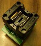 SO8 - SOP8 - DIP8 adapter rugós