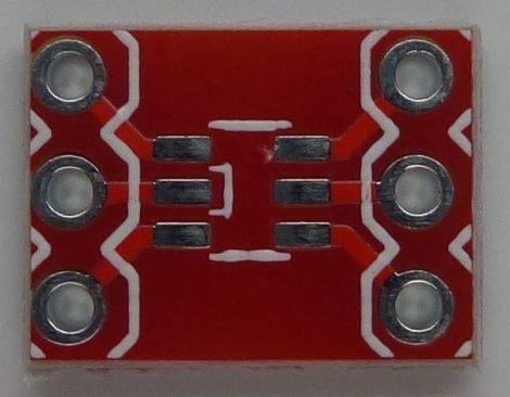 SOT23-6 SMD - DIP6 adapter - furatgalvanizált