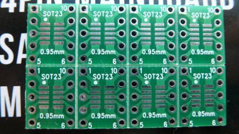 SOT23 MSOP10 SMD - DIP10 adapter - furatgalvanizált