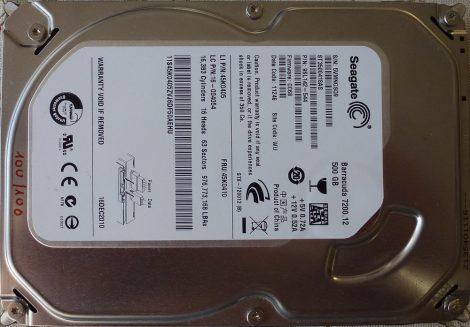 Seagate ST3500418AS 500GB Sata HDD merevlemez 100%/100% Seagate Barracuda 500GB