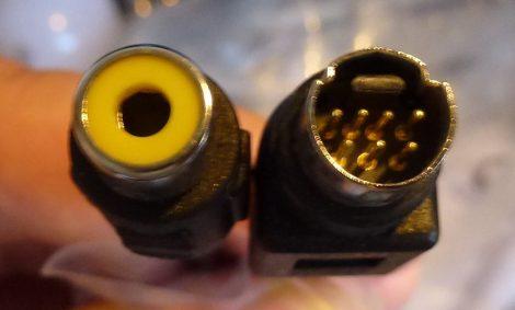 S-Video apa - kompozit video RCA anya kábel 20 cm