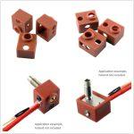 3D nyomtató fűtőblokk szilikon burkolat 20x16x10mm - 3D printer heat block sock