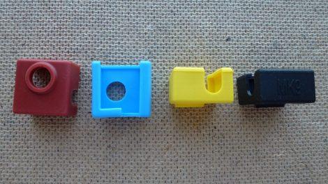 3D nyomtató fűtőblokk szilikon burkolat 20x20x10mm - 3D printer heat block sock Anet A6 A8 i3 MK7 MK8 MK9
