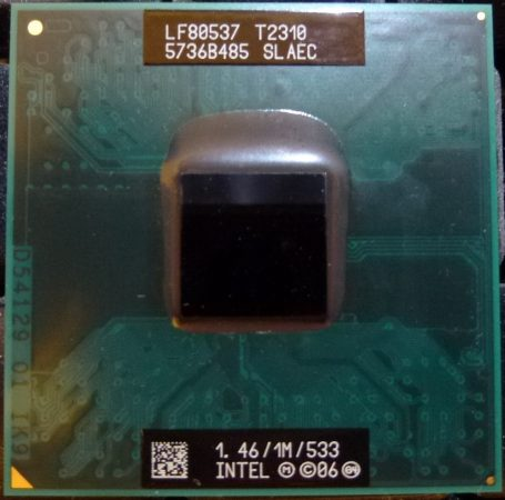 Intel Pentium Dual Core T2310 notebook cpu processzor 1M Cache, 1.46 GHz, 533 MHz FSB SLAEC