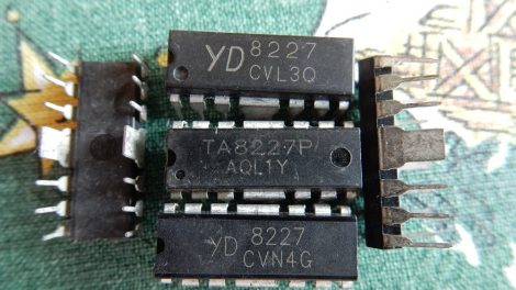 TOSHIBA TA8227P Audio teljesítmény erősítő IC DIP12F