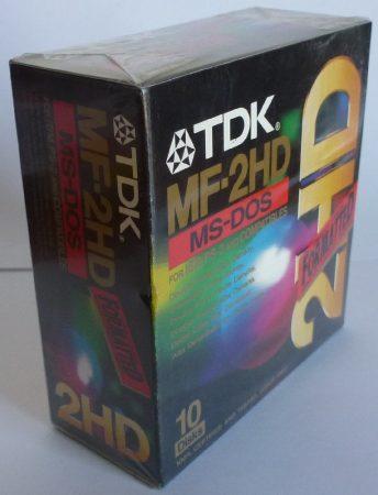 TDK MF-2HD 1,44MB floppy lemez 10 db bontatlan