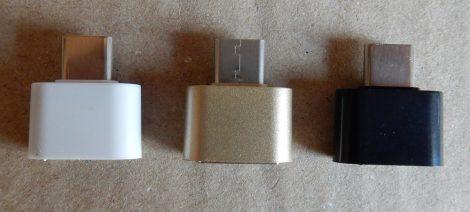 USB Type-C apa - USB Type-A anya adapter fekete fehér arany - USB Type-C Male To USB Type-A Female Adapter Black White Gold