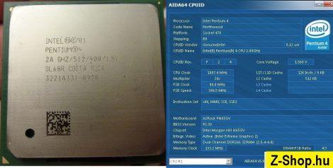 Intel Pentium 4 2000 2A GHz/512/400 processzor SL5YR SL6S7 SL66R SL68R s478 cpu