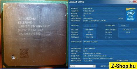 Intel Celeron 1700 1.70GHz/128/400 processzor SL68C vagy SL69Z s478 cpu