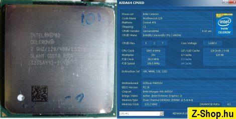 Intel Celeron 2000 2.00GHz/128/400 processzor SL6HY vagy SL6VY s478 cpu