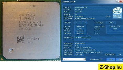 Intel Celeron D 330 2.66GHz/256/533 processzor SL7KZ SL7NV s478 cpu