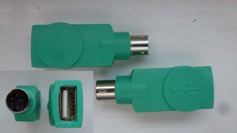 USB Type A mamáról PS/2 Mini DIN6 papára átalakító egér adapter Lenovo