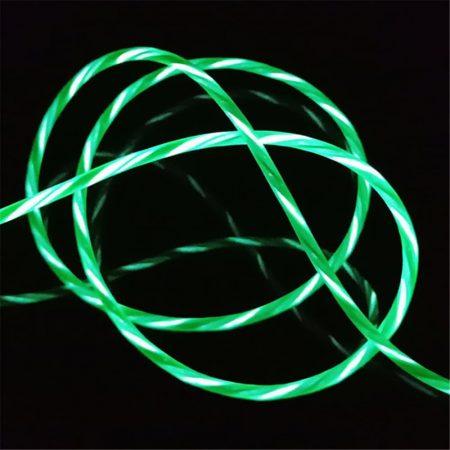 USB Type-C adatkábel villogó színes fénnyel - 1 méter