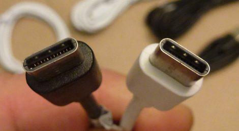 USB Type-A - Type-C adatkábel és töltőkábel 0,25m, 1m, 2m, 3m - fekete - fehér